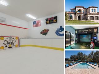 W281- 7 Br Mansion With Ice Rink & Golf Simulator