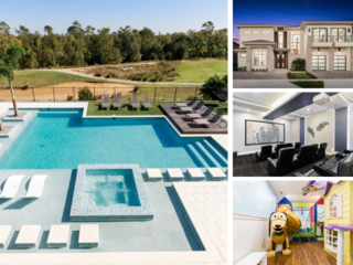 W318- 9 Br Luxury Reunion Mansion With Golf View